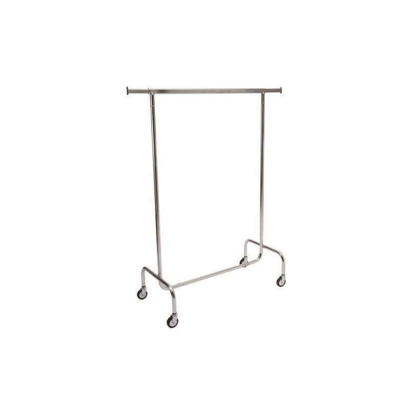Wieszak, stojak chromowany do odzieży ciężkiej na kółkach do sklepu, zapleczy, garderoby ST3405-A-CHR