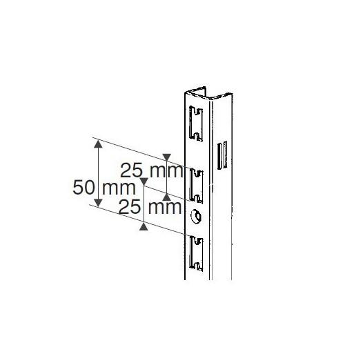 Szyna - profil naścienny chromowany H-240 cm