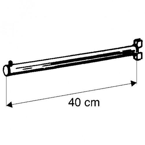 Wieszak prosty o długości 40 cm UV067-0