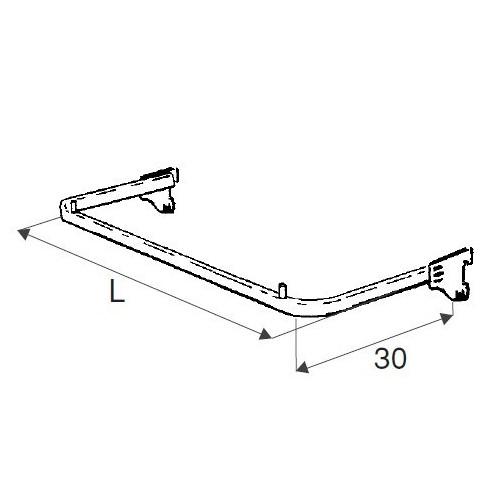Wieszak ramowy o długości 90 cm UV038-B