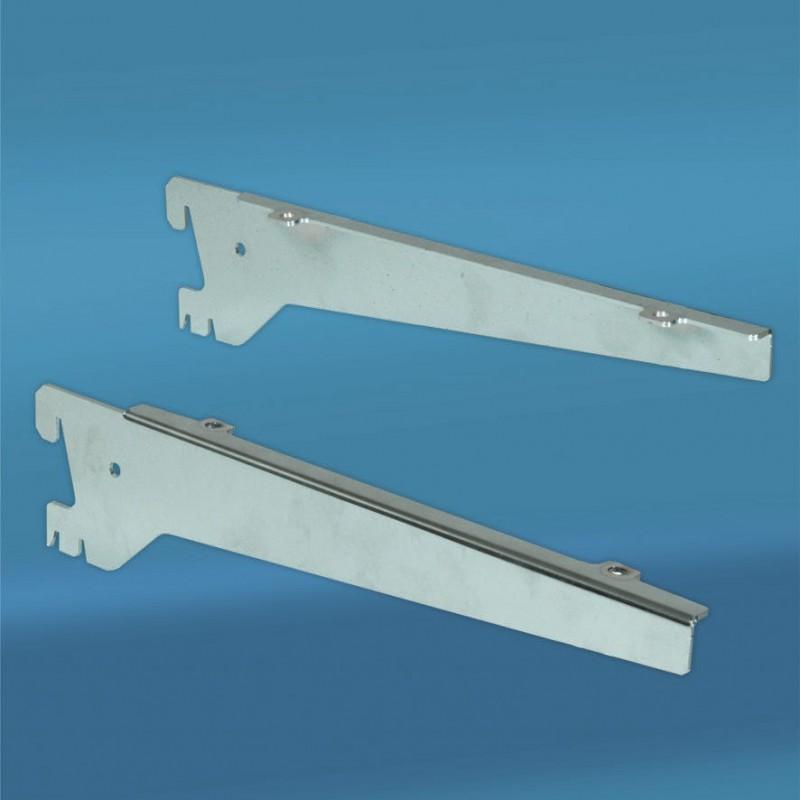 Wsporniki pod półkę srebrne o długości 30 cm CH.88/30