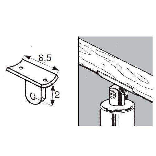 Uchwyt do poręczy rurowych fi 32 mm AC981-A