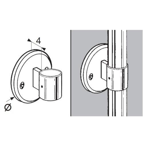 Uchwyt boczny balustrady przelotowy do rury fi 32 mm AC990-A