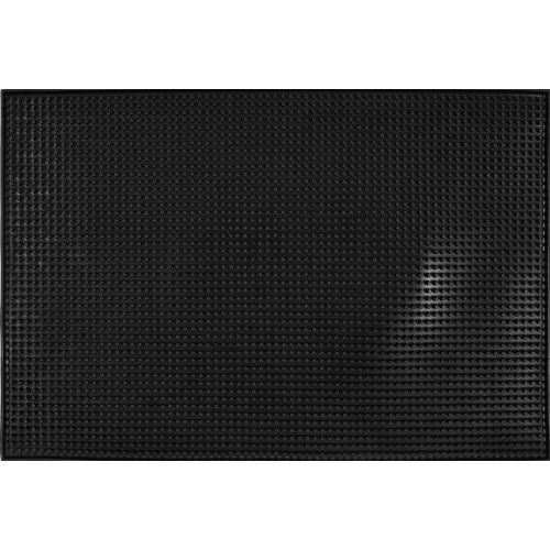 Mata barowa, podkładka barmańska 46 x 31 x 1 cm czarna