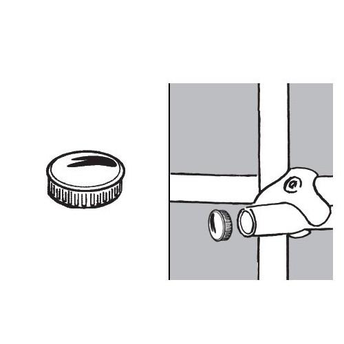 Zaślepka płaska do rury fi 32 mm AC607-E