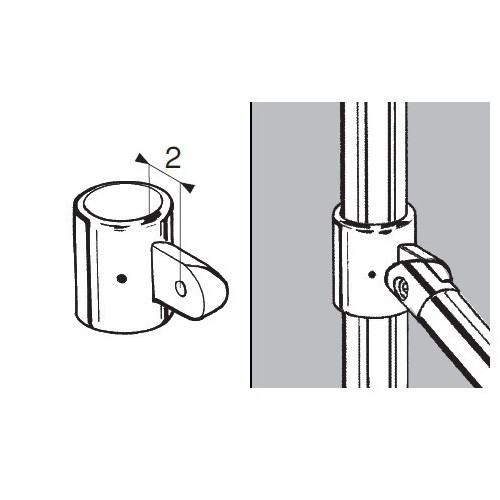 Uchwyt jednostronny do rury fi 50 mm AC974-B