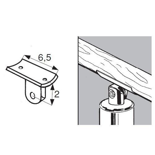 Uchwyt do poręczy rurowych fi 50 mm AC981-B