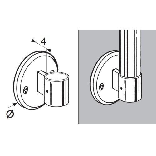 Uchwyt bocznybalustrady końcowy do rury fi 50 mm AC991-B
