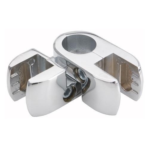 Złącze podwójne kątowe aluminiowe do płyty lub szkła do rury fi 25 mm TR553-0