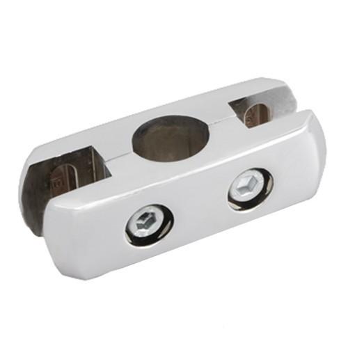 Złącze podwójne aluminiowe do płyty lub szkła podwójne do rury fi 25 mm TR551-A