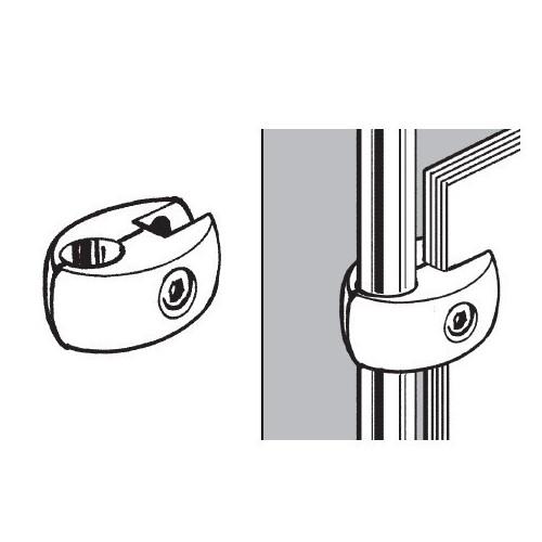 Złącze pojedyncze do płyty lub szkła do rury fi 25 mm TR550-0