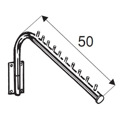 Wieszak z uchwytem przyściennym z rury fi 25 mm ST537-C