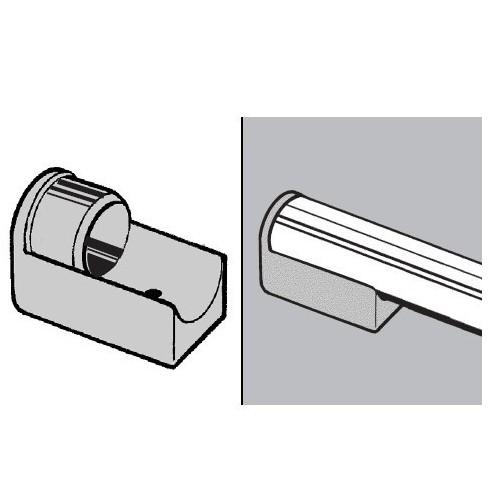 Zaślepka ze ślizgaczem do rury fi 25 mm AC507-H