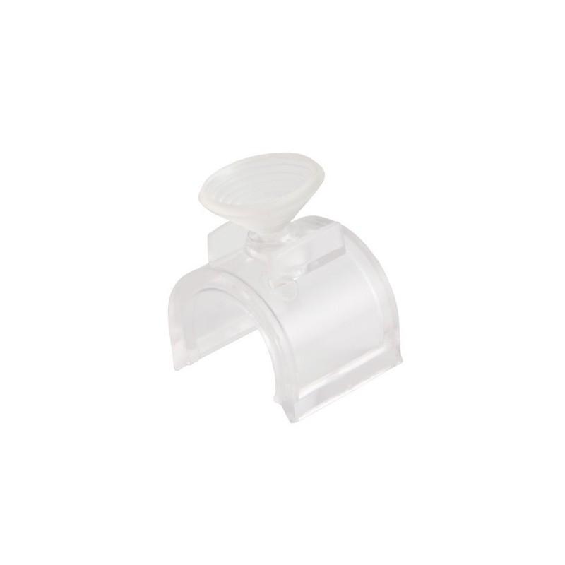 Podstawka chromowana z przyssawką do rury fi 25 mm TR538-C