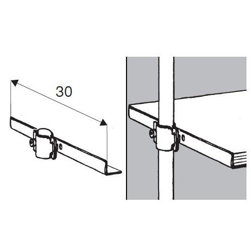 Wspornik półki symetryczny pojedynczy