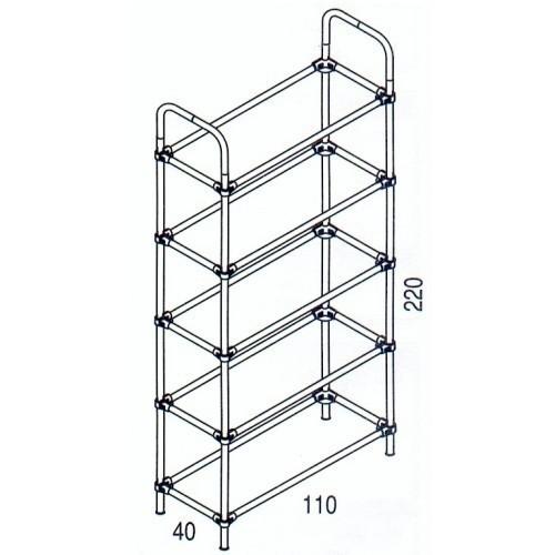 Złącze dwuramienne do rury chromowanej fi 25 mm (TR661-0)