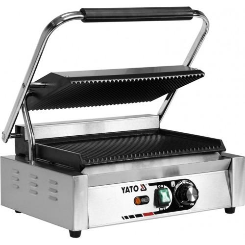 Elektryczny grill kontaktowy panini w pełni ryflowany 44cm 2,2kw