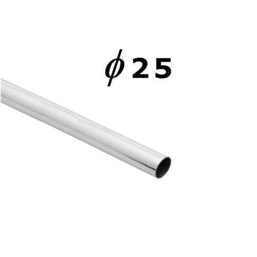 Rura chromowana o średnicy fi 25 mm i długości 100 cm AC500-0-100
