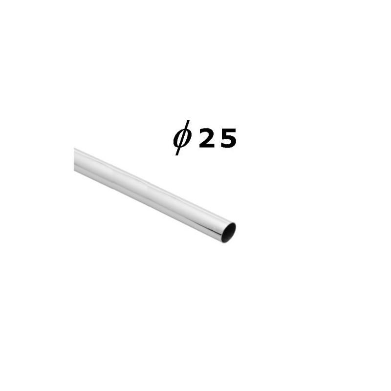 Rura chromowana o średnicy 25 mm i długości 100 cm