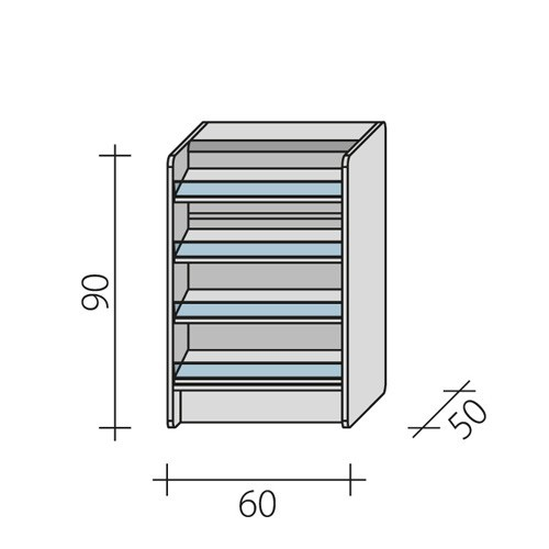 Lada sklepowa impulsowa o wymiarach 60x50x90 cm LPI 1-60/ALB