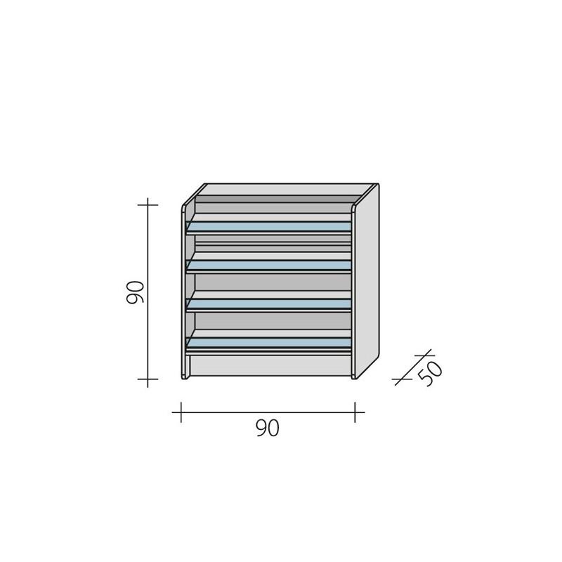 Lada sklepowa impulsowa o wymiarach 120x50x90 cm LPI 1-90/ALB