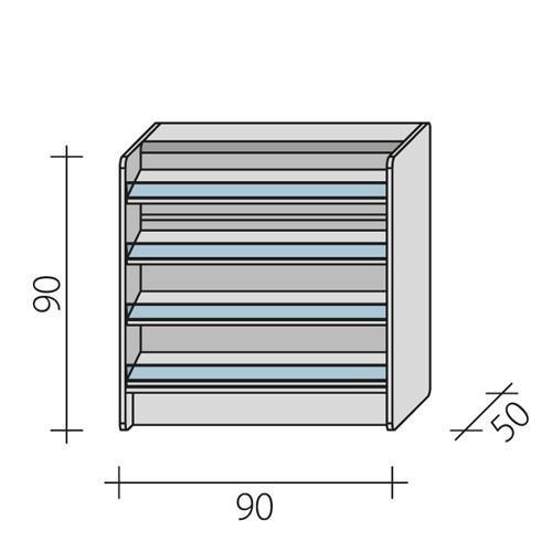 Lada sklepowa impulsowa o wymiarach 90x50x90 cm LPI 1-90/ALB