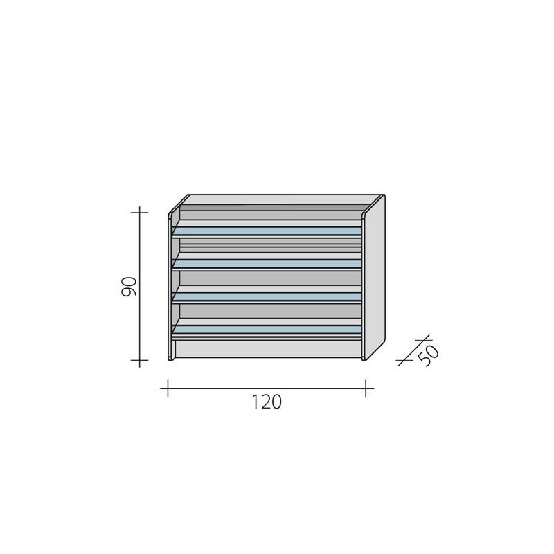 Lada sklepowa impulsowa o wymiarach 120x50x90 cm LPI 1-120/ALB