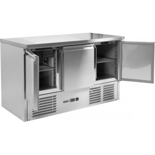 Stół chłodniczy 368l 3-drzwiowy z blatem roboczym