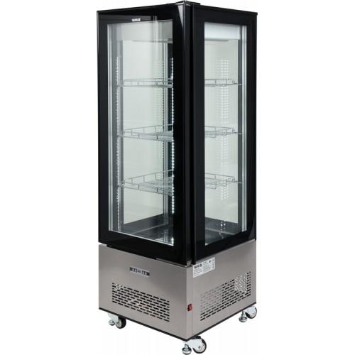 Witryna chłodnicza 400l 65x65x190 czarna