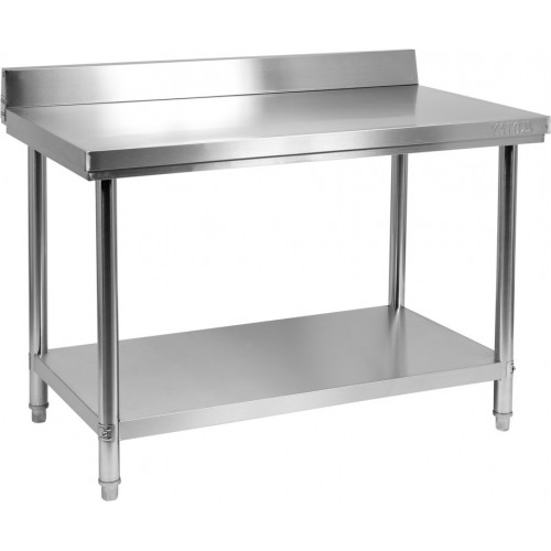 Składany stół przyścienny z półką 1200x700xh850+100mm