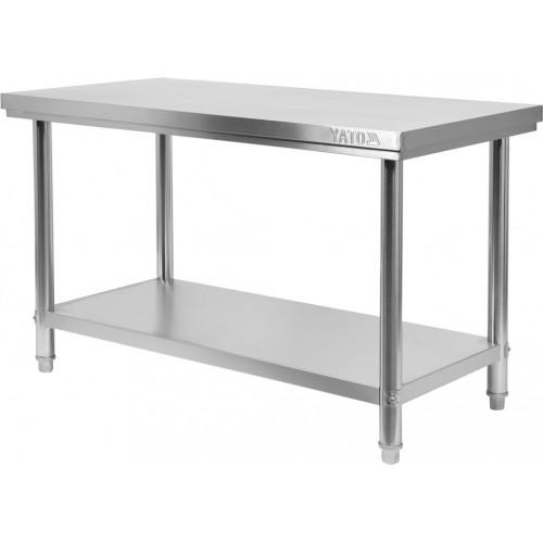 Stół centralny składany z półką 1600×700×h850mm