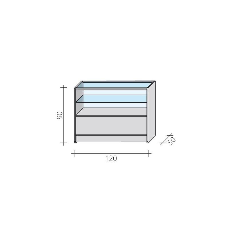 Lada sklepowa o wymiarach 120x50x90 cm LPS 2/3-120/ALB