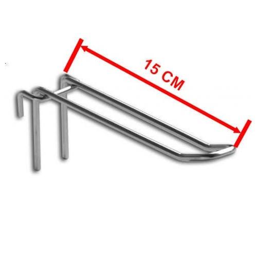 Zawieszka podwójna na kratę o długości 15 cm ZD15/OST