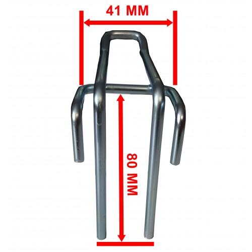 Zawieszka podwójna na kratę o długości 20 cm ZD20/OST