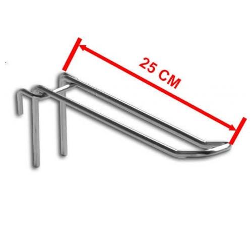 Zawieszka podwójna na kratę o długości 25 cm ZD25/OST