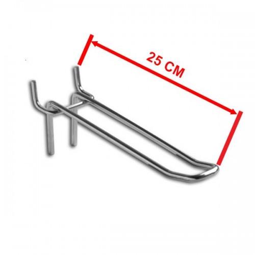 Zawieszka podwójna na perforację o długości 25 cm rozstaw otworów 44 mm ZD25-P/OST