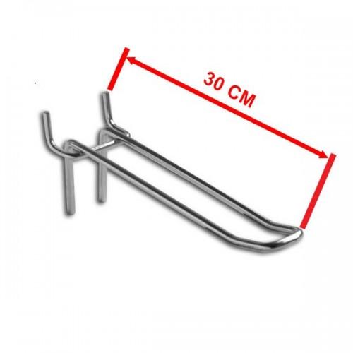 Zawieszka podwójna na perforację rozstaw otworów 44 mm o długości 30 cm ZD30-P/OST