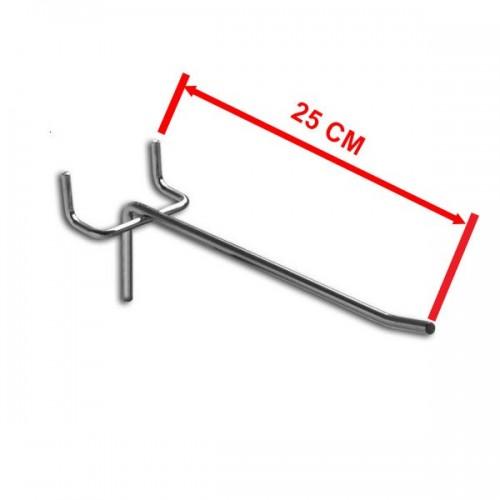 Zawieszka pojedyncza na perforację o długości 25 cm rozstaw otworów 50 mm ZP25-E/OST