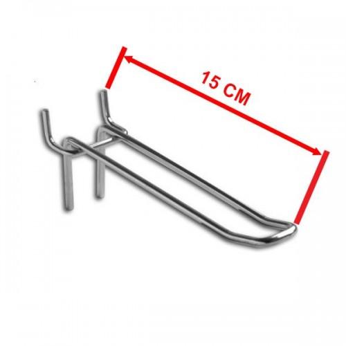 Zawieszka podwójna na perforację o długości 15 cm rozstaw otworów 50 mm ZD15-E/OST