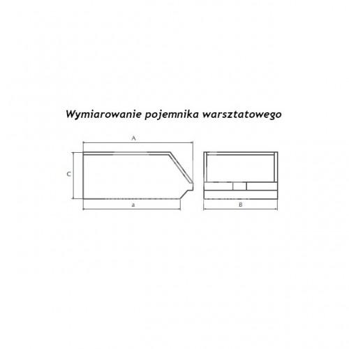 Pojemnik warsztatowy typu III o wymiarach 224x144x108 mm
