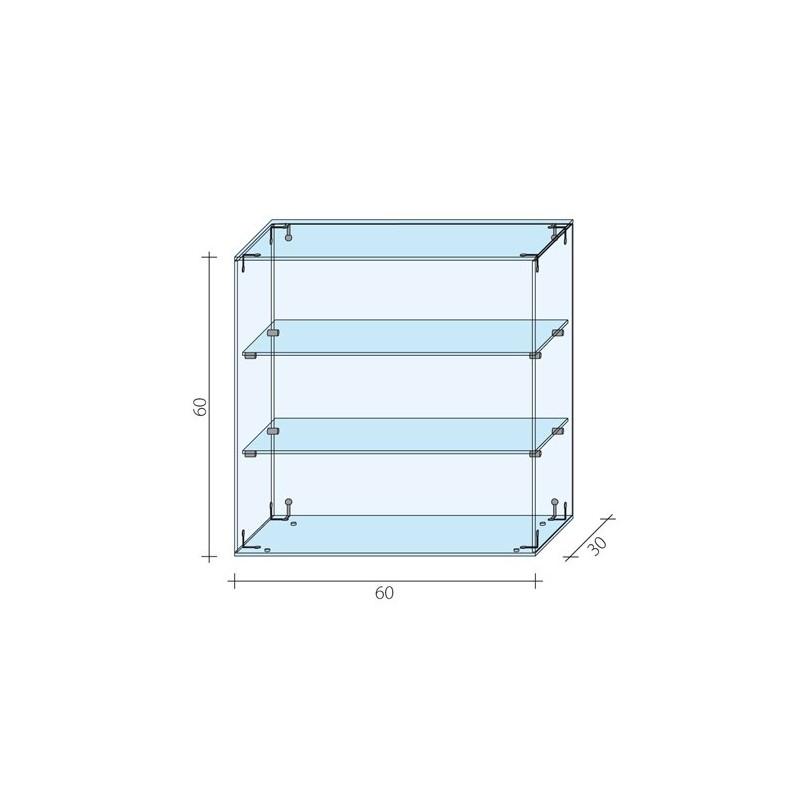 Gablota nadstawka o wymiarach 60x30x60 cm AL 12-M/ALB