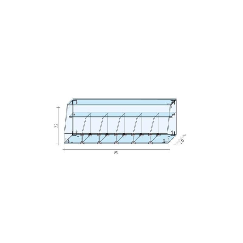 Gablota cukiernicza o wymiarach 60x30x60 cm AL 17/ALB