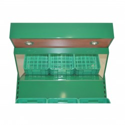 Regał na warzywa i owoce na skrzynki zielony o długości 150 cm RWAN 90+60/ATU