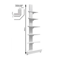 Regał metalowy sklepowy przyścienny zewnętrzny Mago o wysokości 230