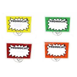"""Etykiety cenowe laminowane """"Promocja"""" o wymiarach 80x110 mm op.50 szt."""