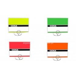 Etykiety cenowe laminowane różne kolory o wymiarach 80x110 mm