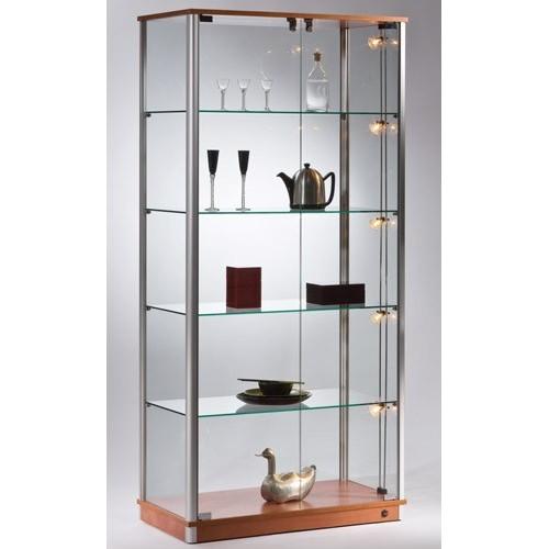 Gablota szklana sklepowa o wymiarach 90x46x190 cm VA1/ALB