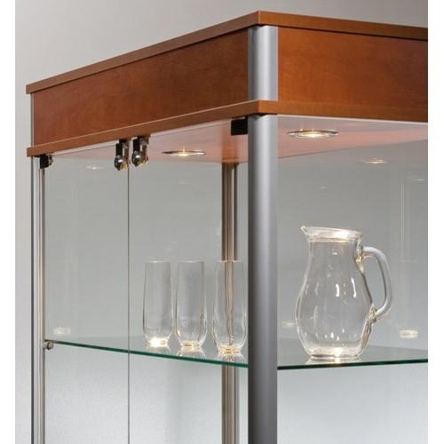 Gablota szklana sklepowa o wymiarach 90x46x190 cm VA1-D/ALB