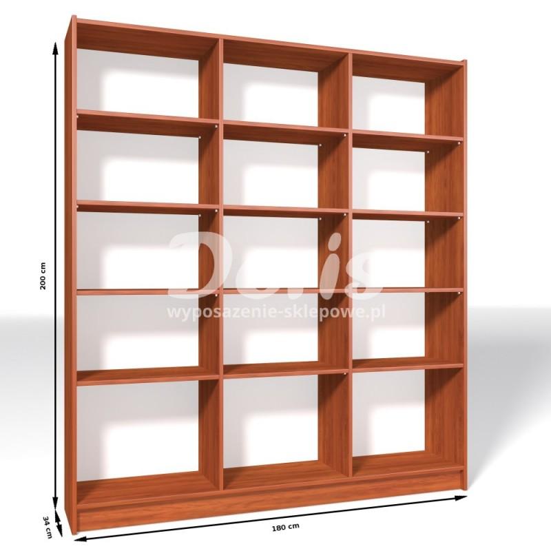 Regał sklepowy z płyty wiórowej o wymiarach 200x180x34 cm R-180/ALB