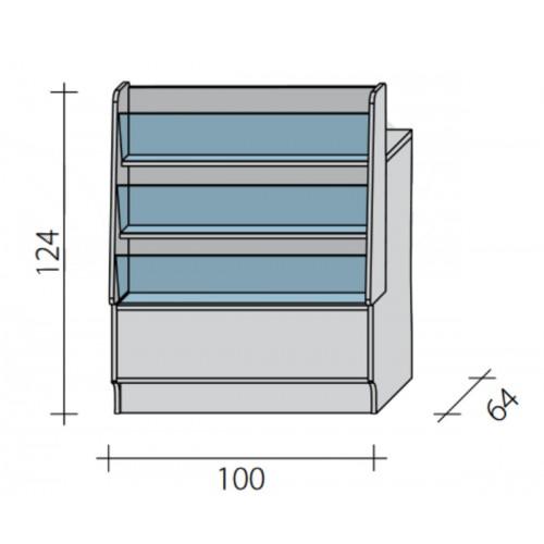 Lada pełna - gazeciarz o wymiarach 100x64x124 cm LGG-W-100/ALB
